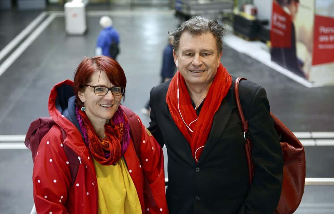 Christine Friedli mit ihrem «Schreibcoach» Martin Schuppli. (Foto: Paolo Foschini)